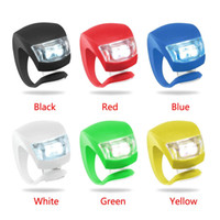 Wholesale silicone led light set - Silicone Bike Bicycle Cycling Head Front Rear Wheel LED Flash Bicycle Light Lamp black red include the battery Free Shipping