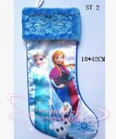 Discount satin yarn - 7 styles Slinky Satin Fully Printed Christmas Stocking,Cartoon Christmas stockings,Christmas gift socks, EMS free shipping