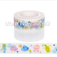 Wholesale Washi Tape Japanese - Wholesale-Hot style Japanese printed decorative colorful office adhesive washi tape tape for gift packing