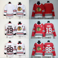 ingrosso jersey della gioventù-Lady and Youth 88 Patrick Kane Chicago Blackhawks Jersey 2017-18 Stagione 2 Duncan Keith 19 Jonathan Toews 20 Saad 81 Marian Hossa Maglie