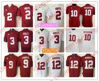 Wholesale Gold Cooper - NCAA Alabama Crimson Tide Youth Womens Kids #2 Derrick Henry 9 Amari Cooper 10 AJ McCarron 12 Joe Namath Red White College Jerseys