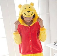 Wholesale Pooh Kigurumi Pajamas - Winnie The Pooh Kigurumi Pajamas Animal Cosplay Wear Outfit Halloween Costume Adult Garment Cartoon Jumpsuits Unisex Animal Sleepwear