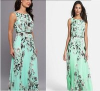 Wholesale latest dress models resale online - H F Hot maxi summer dress explosion models the latest European fashion casual women dresses pleated waistband