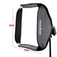 speedlite bracket NZ - Freeshipping Professional 60cm * 60cm Ajustable Flash Softbox + S type Bracket Mount Kit for Flash Speedlite Studio Shooting