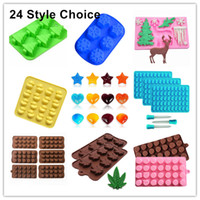 Wholesale Christmas Cookies Chocolate - Silicone Mold Cake Baking Molds Christmas Theme Chocolate Cake Pan Handmade Soap Moulds Biscuit Ice Cube Tray DIY Mold Cookies Decorating