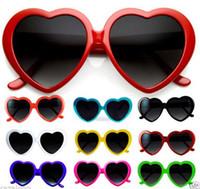 Wholesale Dress Girls Retro - Brand new Heart Lolita Love Vintage Retro Sunglasses Fancy dress Women Men children Party Fashion Accessories grey lens candy colors