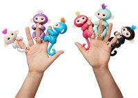Wholesale Lovely Baby Toy Doll - GOODPre-sale 6 colors Lovely Monkeys Electronic Fingerlings Little Baby Dolls 6 Colors PVC Figures Novelty Fidget Kids Toys Factory CC