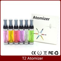 Wholesale Ego Ce9 Coil - 2015 T2 clearomizer Ecig T2 atomizer clearomizer CE9 atomizers tanks clear ego atomiser rebuildable changeable dual coil atomizer e electron