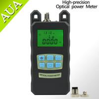 Wholesale Optical Fiber Power Meters - Wholesale-AUA-70A precision fiber optic power meter tester tester seven-wavelength optical power meter +10 to -70