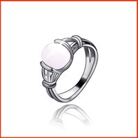 Wholesale Bella Moonstone - Fashion Zinc Alloy Chrismas Gift Wholesale Stone Rings Latest Bella Moonstone Ring Gilded Natural Women 080101