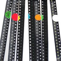led diyot beyaz smd toptan satış-Wholesale-700pcs 0603 SMD LED Çeşitleri Kırmızı / Yeşil / Mavi / Sarı / Beyaz / Zümrüt-yeşil / Turuncu 100 adet her SMD LED 0603 Diyot Paketi