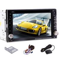 nuevos videos mp4 al por mayor-100% Nuevo Universal Radio para Coche Doble 2 din Coche Reproductor de DVD Navegación GPS En el tablero de la unidad estéreo de la PC del coche video + Mapa gratis