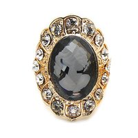 Wholesale colors vintage cameo crystal gem ring CR014