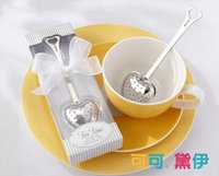 "Wholesale Wedding Spoons Gifts - Gift Box ""Tea Time"" Heart Tea Infuser Heart-Shaped Stainless Herbal Tea Infuser Spoon Filter Wedding favors gift"