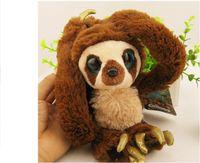etek oyuncakları toptan satış-Yüksek kalite 65 cm 100 cm Kemer sloths Uzun kol maymun peluş bebek Crood'lar Fabrika doğrudan satış oyuncaklar çocuklar noel doğum günü hediye