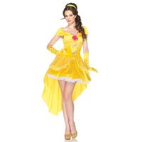 Wholesale Sexy Snow White Games - Wholesale-Adult Halloween dresses Snow White COSPLAY Princess Belle Costume Sexy female adult princess belle Cosplay costume