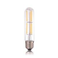 Wholesale 6w Led Equivalent - Dimmable,LED Vintage Filament Bulb,6W 2700K,T30 130mm Tubular Style,Soft White(2700K),E26 E27 Standard Base,60W Equivalent