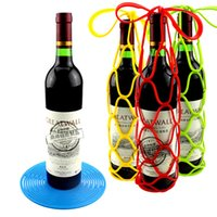 Tapete de aislamiento de silicona Placemat Drink Glass Coaster Bandeja de botella de vino Basket Bottle Bottle Bag for Picnic
