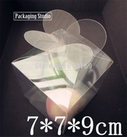 Wholesale Candle Packaging Wholesale - Leaf Clover PVC Boxes Flower clear Plastic Candy gift candle packaging boxes product display Boxes