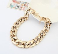 Wholesale Chunky Link Necklace For Women - 2014 New Fashion 18K Gold \u0026 Silver Plated Women Gift Chain Chunky Necklaces Pendants For Women Men jewelry wholesale