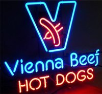 """Wholesale Hot Dog Bar - New From Hot Dog Glass Neon Sign Light Beer Bar Pub Sign Arts Crafts Gifts Lighting 26"""""""
