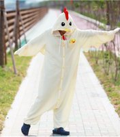 Wholesale Cow Costume Pink - Wholesale- Animal Costume Cosplay Adult Pyjamas JP Animal pink blue yellow chihuahua frog chicken cow cattle Pajamas