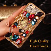 Wholesale Bling Phone Designs - High Quality iphone 6s Case Luxury Design Diamonds phone covers bling Rhinestone Cover For iphone 6 Plus 5s Samsung S7 S6 Case