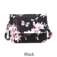 remiendo de la mariposa al por mayor-Lady Luxury Women Bags Design Small Satchel Bolso de mujer Flower Butterfly Impreso PU Bolso de hombro Retro Crossbody Bag