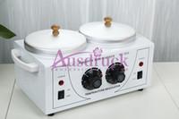Wholesale Electric Hot Warmer - Wax Warmer DOUBLE Electric Heater Dual Parrafin Hot Facial Spa Skin Equipment