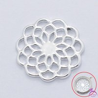 Wholesale Windows Float - Wholesale-Free shipping Fashion Beautiful 22mm Silver Flower Floating Window Plates For 30mm Living Glass Lockets