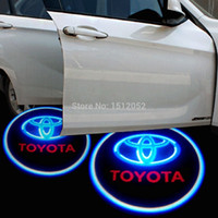 Wholesale Led Light Bulbs Toyota Camry - For Toyota Logo Dedicated, no drilling 3W 12V1pair Led Laser Welcome Projector Light Led Car Door Courtesy Laser Projector Logo Ghost