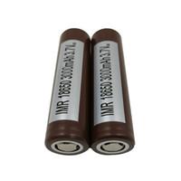 fedex batterie großhandel-100% authentisch für LG HG2 18650 Batterie 3000mA 35A Maximaler Entladungs-hoher Entladungs-Batterien 25R Sony VTC5 VTC4 HE2 HE4 Fedex Freies Verschiffen