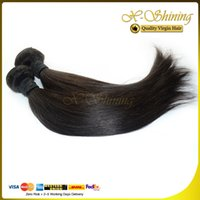Wholesale Top Wholesale Malaysia - Straight Indian Malaysia Brazilian Peruvian Virgin Hair Human Hair Extensions Top Quality 100g pc 3pcs lot Mixed Lengths 8--30 inch