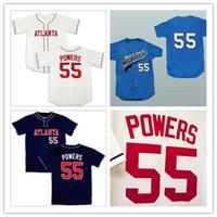 Wholesale Mexican Baseball - Kenny Powers #55 Mexican Charros Atlanta New York Myrtle Beach Mermen All Stitched Baseball Jerseys Free Shipping