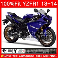 Wholesale Body Kit Yamaha R1 Purple - Injection Body For YAMAHA blue black YZF 1000 YZF-R1 13 14 YZFR1 2013 2014 86NO50 YZF R 1 YZF-1000 YZF1000 YZF R1 13 14 Fairing kit 100%Fit