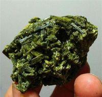 ingrosso pietra verde per la decorazione-70g naturale verde tormalina cristallo pietra grezza cluster minatore esemplare per la decorazione domestica spedizione gratuita