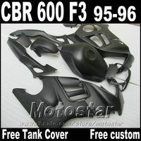 Wholesale Honda Cbr 1995 - Motorcycle fairings set for HONDA 1995 1996 CBR600 F3 CBR 600 95 96 all matte black high grade fairing kit ZB68