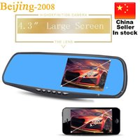 Car DVR 3 in 1 retrovisore Mirror + telecamera anteriore DVR + Vista posteriore HD 08022