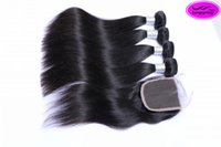 Wholesale Hair One Bundle - Special Link for customer one Middle part 8 inch closure with 12 14 16 18 Straight Hair Bundles,Total 5 Pieces