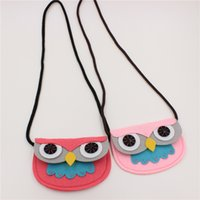 Wholesale Cute Owl Pattern Cartoon - creative kids gifts Fox owl cartoon coin bag messenger bag cute Single Shoulder Bag Animal Pattern Nonwoven Fabric Mini Shoulder Bags Kid