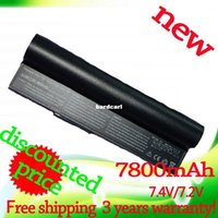 Wholesale A23 Battery Free Shipping - Free shipping- 7800mAh black laptop Battery for Asus Eee PC 2G 4G 700 701 8G 900 90-OA001B1000 A22-700 A22-P701 A23-P701 P22-900