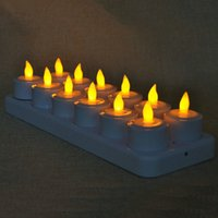 conduziu fosco venda por atacado-Novo Design Remote Controlled Led velas cintilação Frosted recarregáveis Tea Lights / Eletrônica Vela Lâmpada do Natal Bar casamento