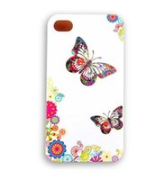 Wholesale Designed Cases For Iphone 5c - Wholesale Beautiful Butterfly Design Hard Plastic Mobile Phone Case Cover For iPhone 4 4S 5 5S 5C 6 6 Plus