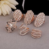 Wholesale Wholesale Gold Jewelry Online - 100PCs Mixed Style Rings Newest Fashion Jewelry Design Wholesale Fashion online 365 Super Rings for Female HKR020