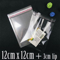 Wholesale Self Seal Cellophane Bags - Wholesale- 12cmx12cm+3cm Crystal Clear Self Adhesive Seal Opp plastic bag Cellophane Cello Bags