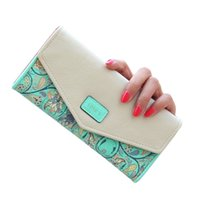 Wholesale Phone Clutch Zip Purse - S5Q Women Purse PU Leather Envelope Wallet Long Card Holder Mobile Zip Handbag AAAEOM