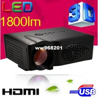 Günstiger 1800lumens HD HDMI USB 1080 p Heimkino Led LCD Tragbare Mini-film Projektor Digitale Video 3D Proyector beamer