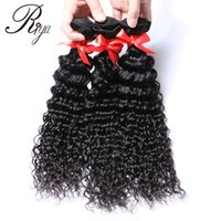 Глубокие волны перуанских волос Virgin Weaves 1Bundle 3pcs Double Weft Natural Black Color Human Hair Extension of Women Cheap Product Бесплатная доставка