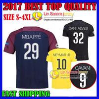 d96a55c0c 2017 2018 psg MBAPPE Champions League soccer jersey third black survetement  neymar jr HOME AWAY maillot de foot 17 18 lucas FOOTBALL SHIRTS ...