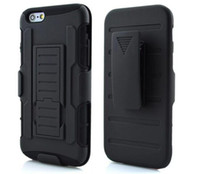 Wholesale Galaxy S4 Holder Belt - Hybrid Impact Future Armor Hard Case For iPhone 6S Plus Belt Clip Holster Kickstand Swivel Holder For samsung galaxy S6 edge S5 S4 Note 5 4